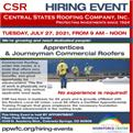 Central States Roofing Hiring Event